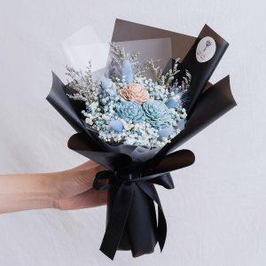 黑色玫瑰乾燥花束,玫瑰乾燥花束黑色封面,台北喜歡生活乾燥花店
