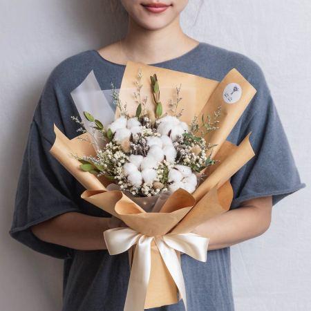 求婚花束推薦台北,棉花乾燥花束,台北求婚花束推薦,喜歡生活乾燥花店封面照