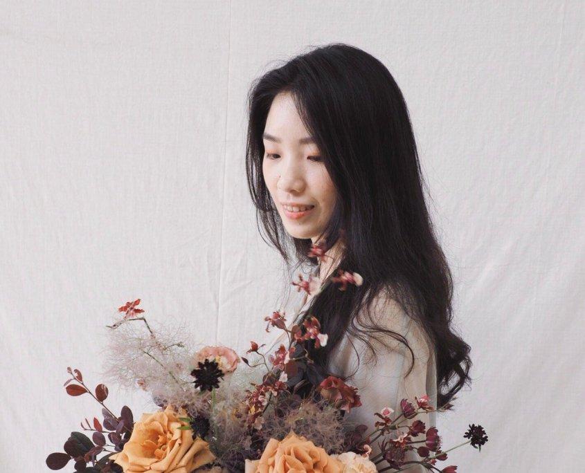 新娘捧花教學,花藝課程,乾燥花捧花教學