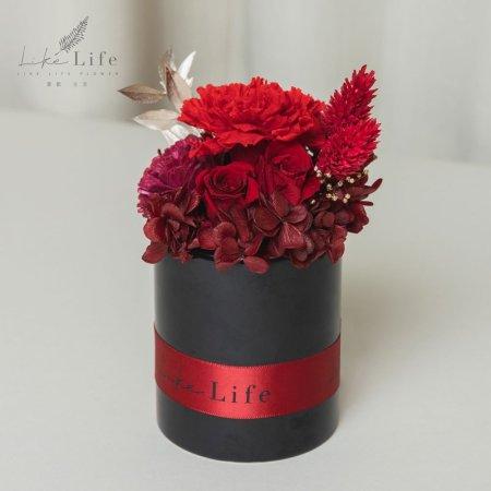 母親節永生玫瑰花盆栽紅色永生花康乃馨