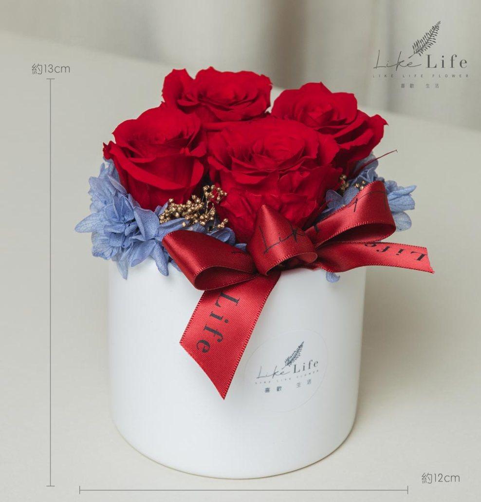 情人節康乃馨花束紅色永生玫瑰花盆栽公分,永生玫瑰花盆栽