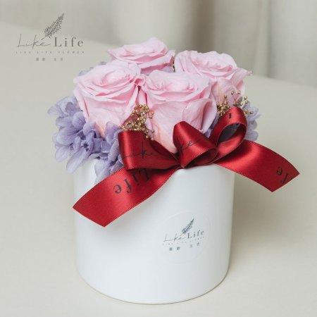情人節永生玫瑰花盆栽粉色玫瑰花,玫瑰花粉色,情人節永生花粉色