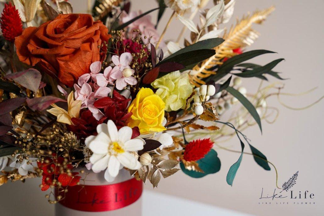 永生花盆栽課程,花藝教學永生花盆栽,台北喜歡生活乾燥花店
