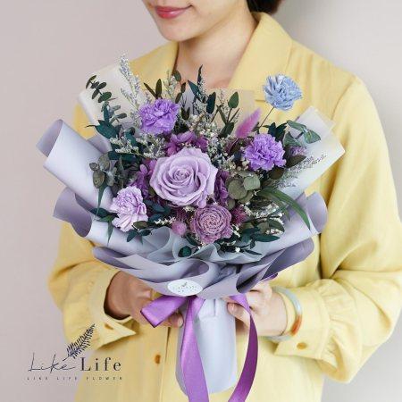 康乃馨花束-紫色永生花康乃馨花束封面