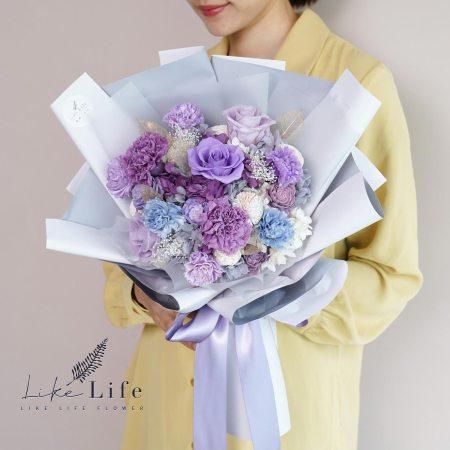 母親節康乃馨花束紫色康乃馨花束,康乃馨花束紫色-2021康乃馨玫瑰花束-母親節花束