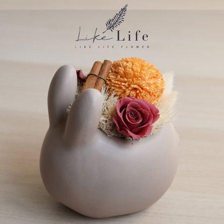 小栗兔-中秋節永生花作品
