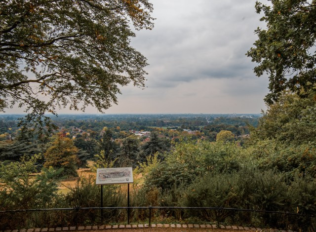 panoramic view of london from richmond park