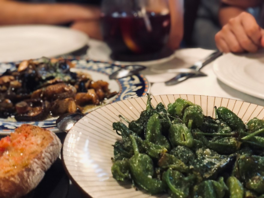 padron-peppers-tomato-bread-mussels-at-el-poblenou-tapas-bar