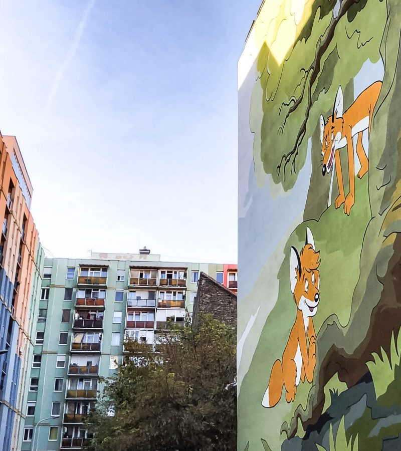 Színes Város Have Unveiled Another Colourful Mural in Budapest
