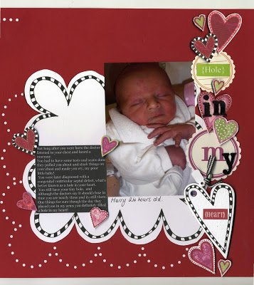 {February kit!} Harrys hole in his heart
