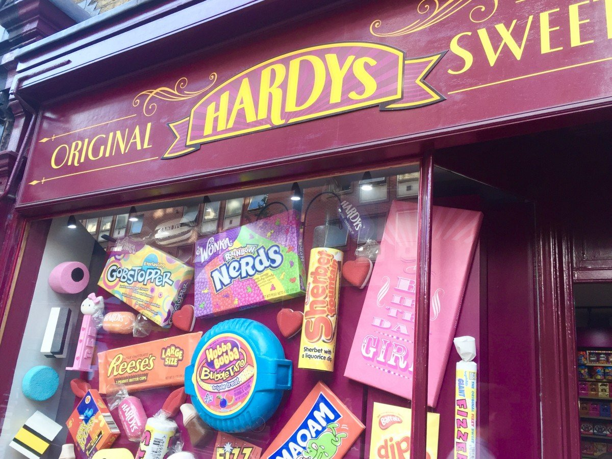 Harrys sweet shop a day out in london
