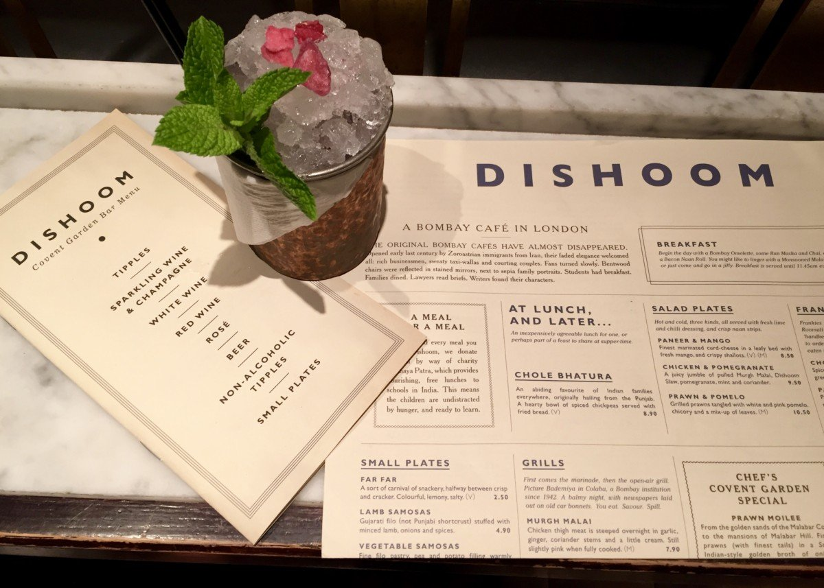 dishoom cocktail bar
