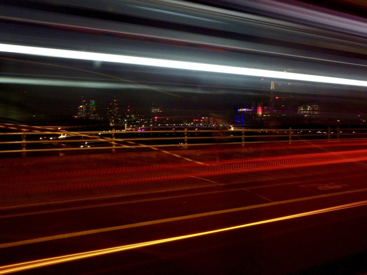 long exposure london bus photo
