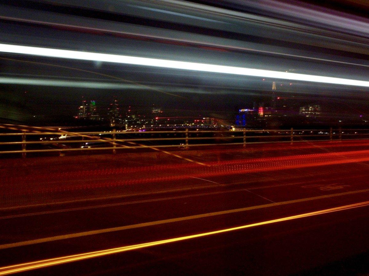 long exposure london bus photo
