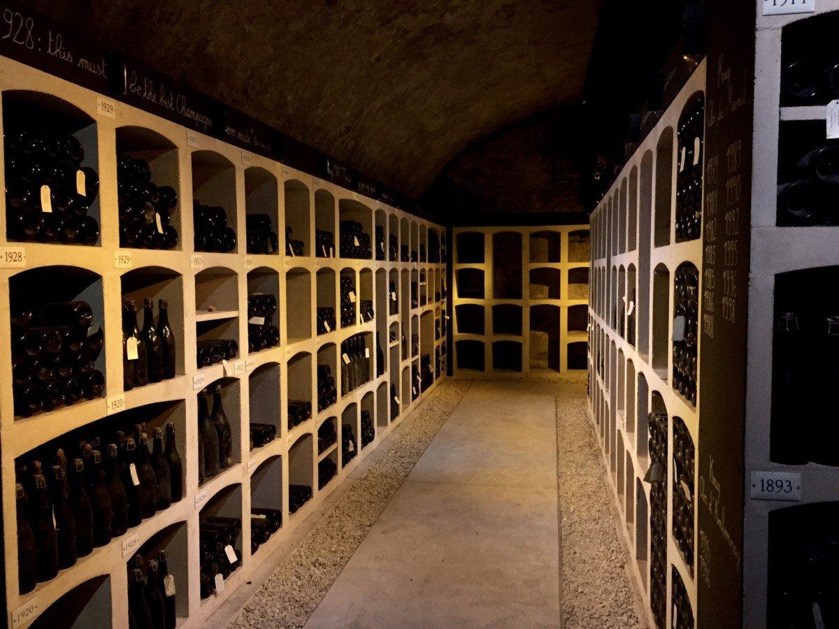 Krug champagne tour vinatsge cellar