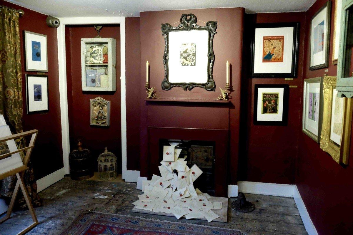 Mina Lima Secret Harry Potter stop in London fireplace harry potter letters
