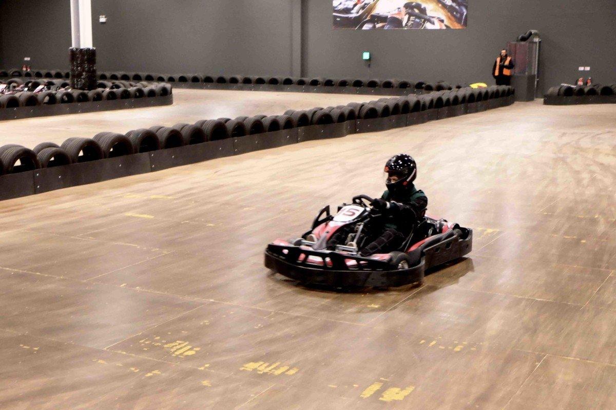 Teamsport Karting in Basildon go kart on the track