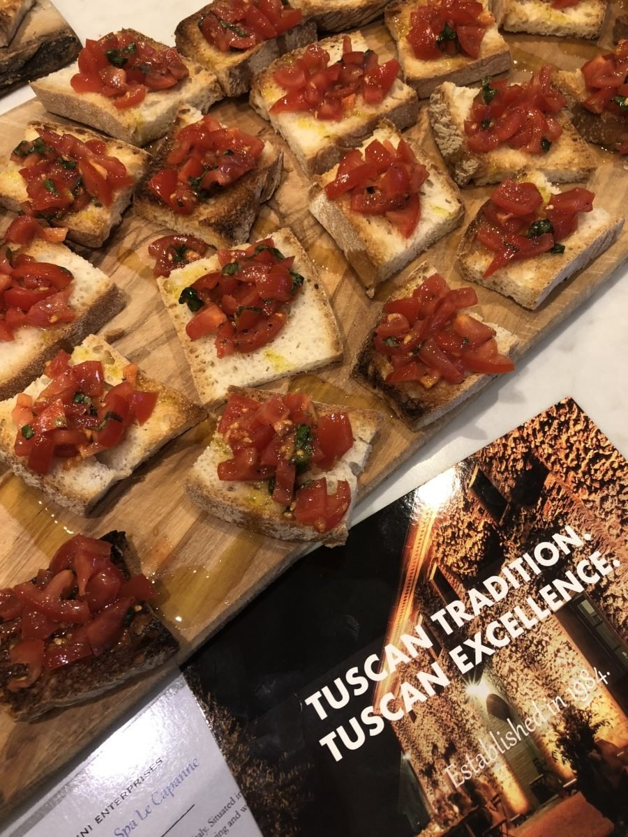 Traditional Tuscan food from Volterra, Pisa ingredients picture Bruschetta pomodoro