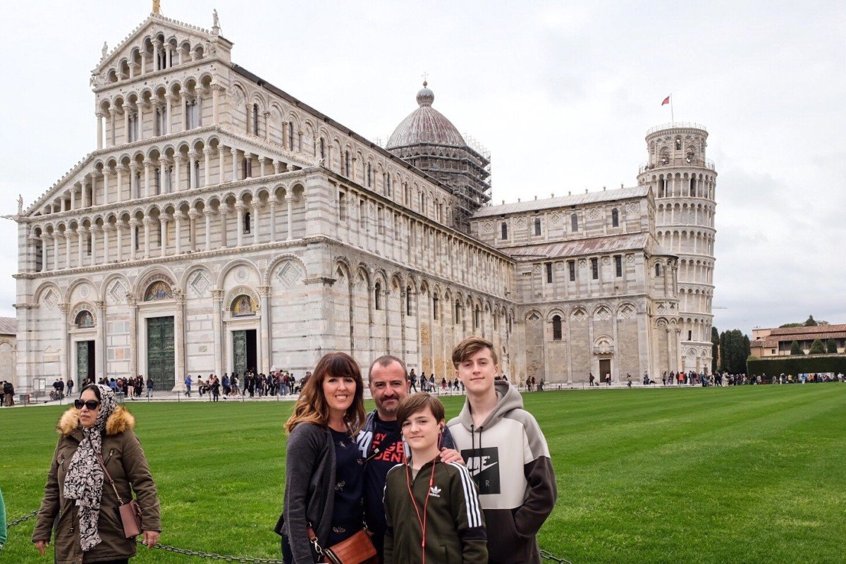 Pisa Italy family photo