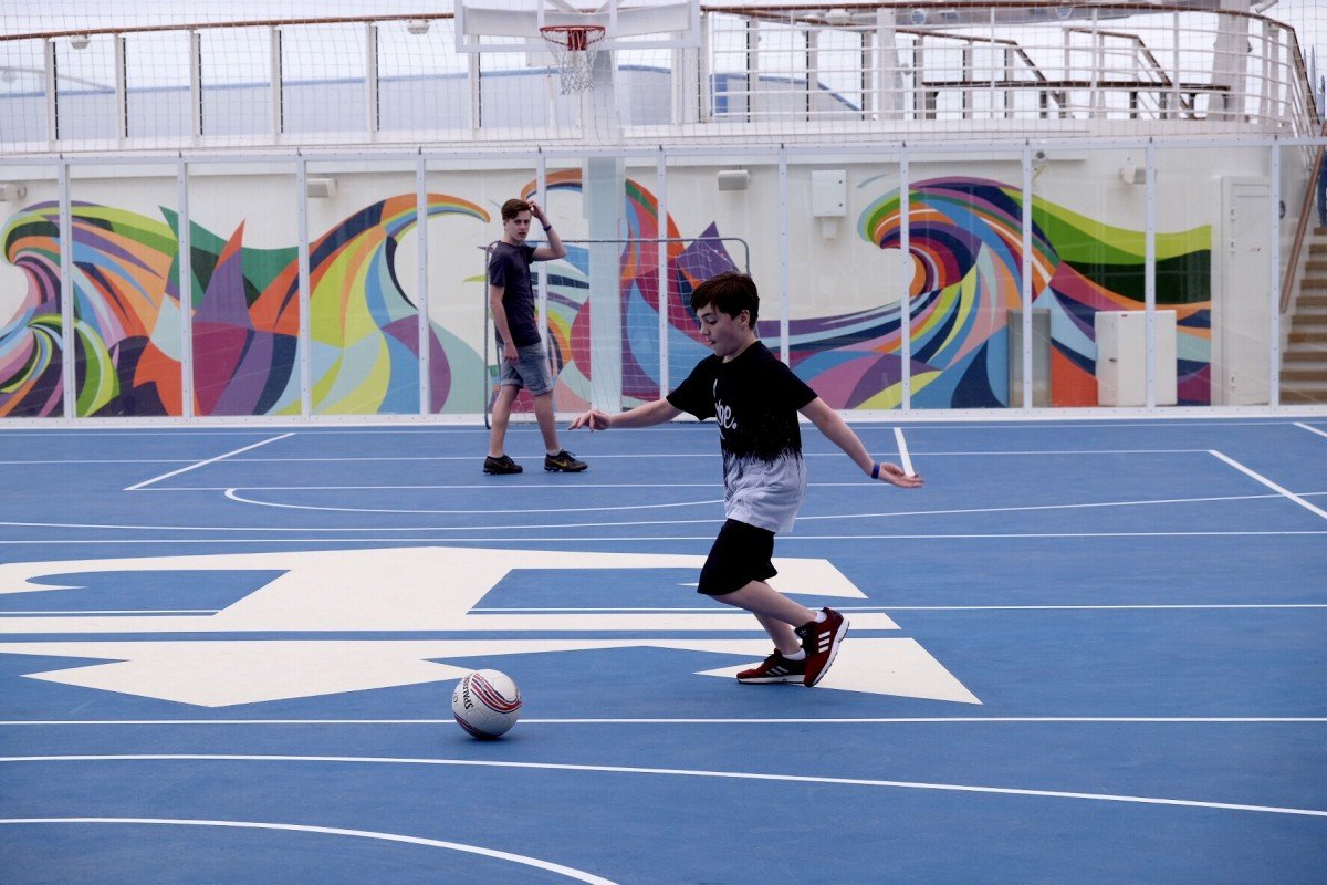 The Sports court on Symphony teen activities