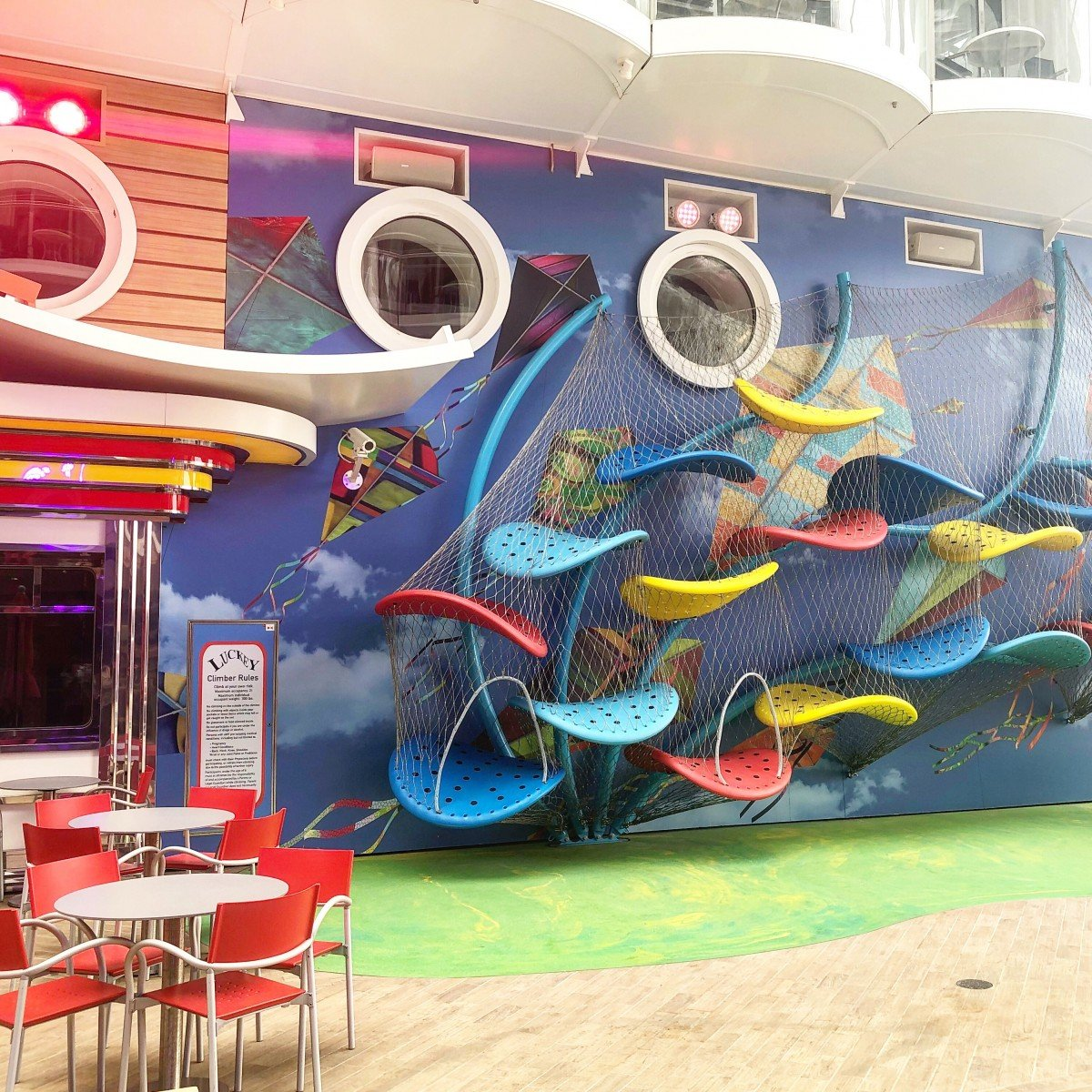 Kids Climbing Frame on the boardwalk Oasis Class royal Caribbean