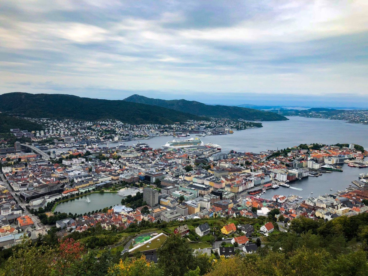 Bergen view from Mount Fløyen