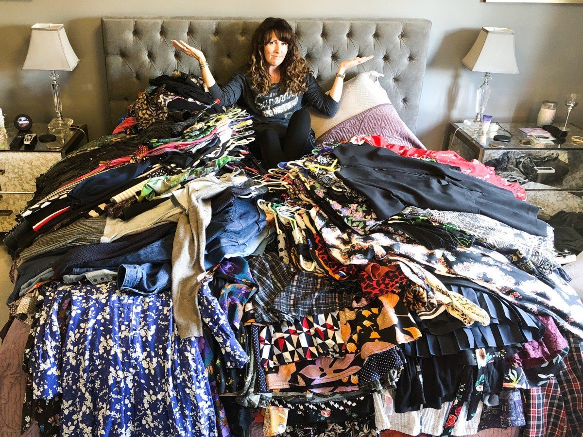 Marie Kondo The Magic of Tidying up helped me organise my wardrobe. Pile everything on the bed and work out what sparks joy , How to declutter your home