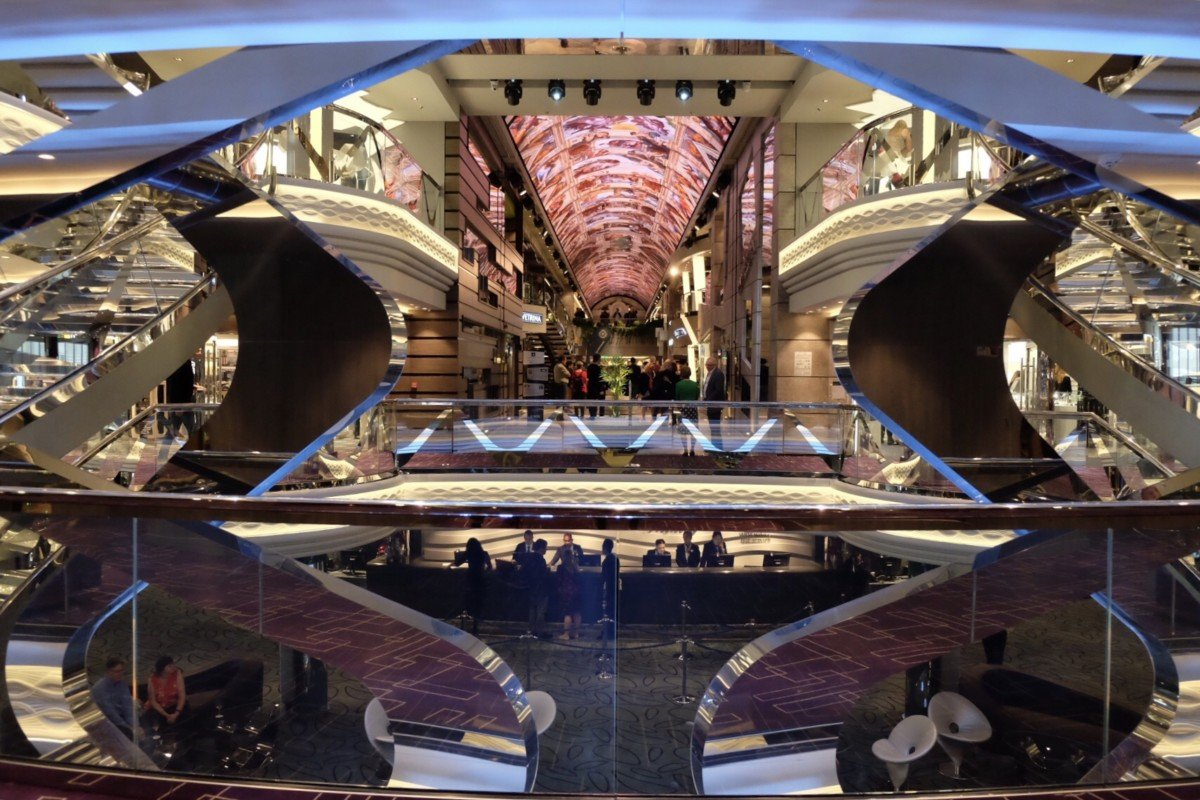 MSC Bellissima review the atrium and promenade