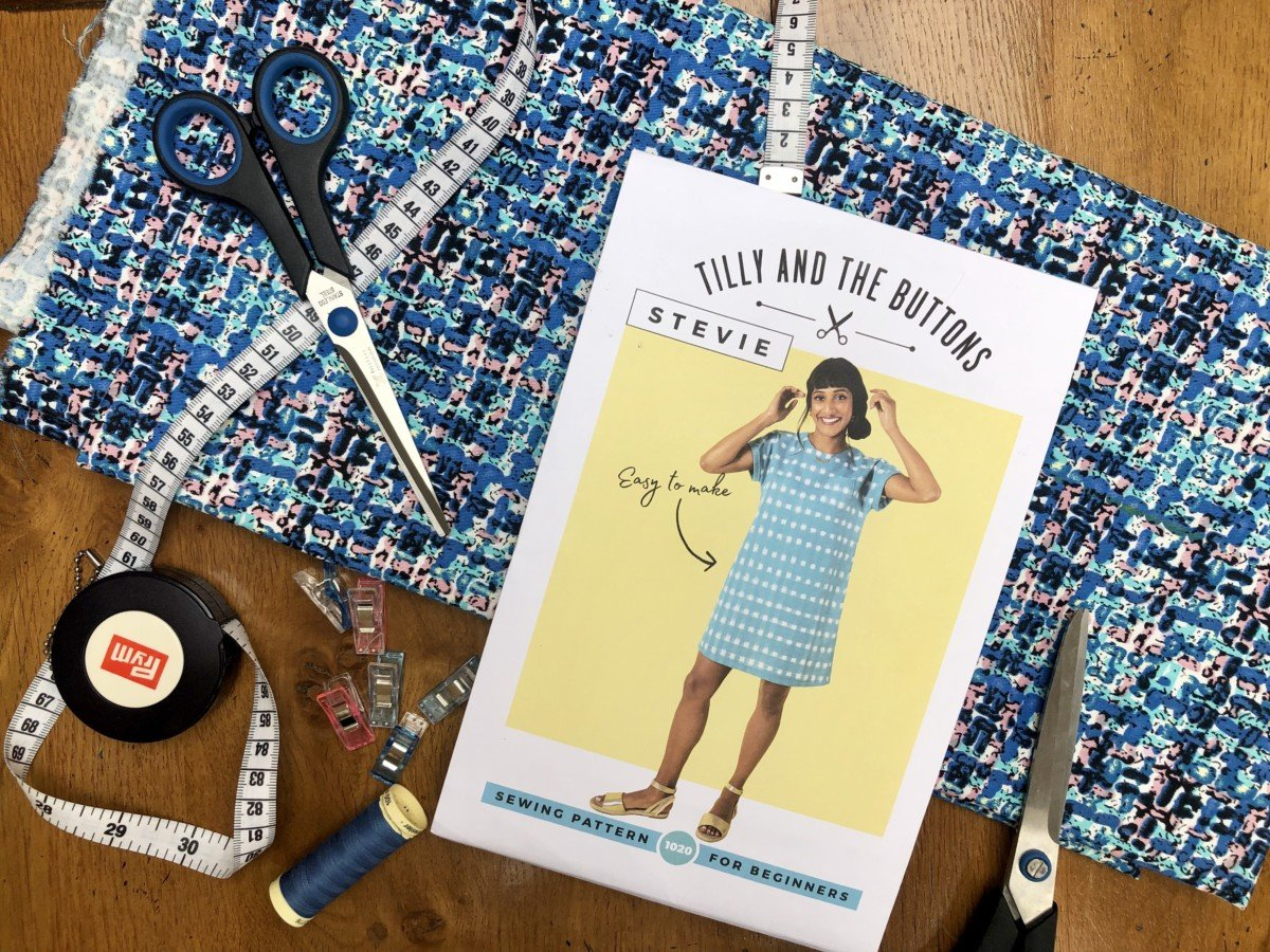 Sewing you first Stevie dress a Tilly and the Buttons pattern