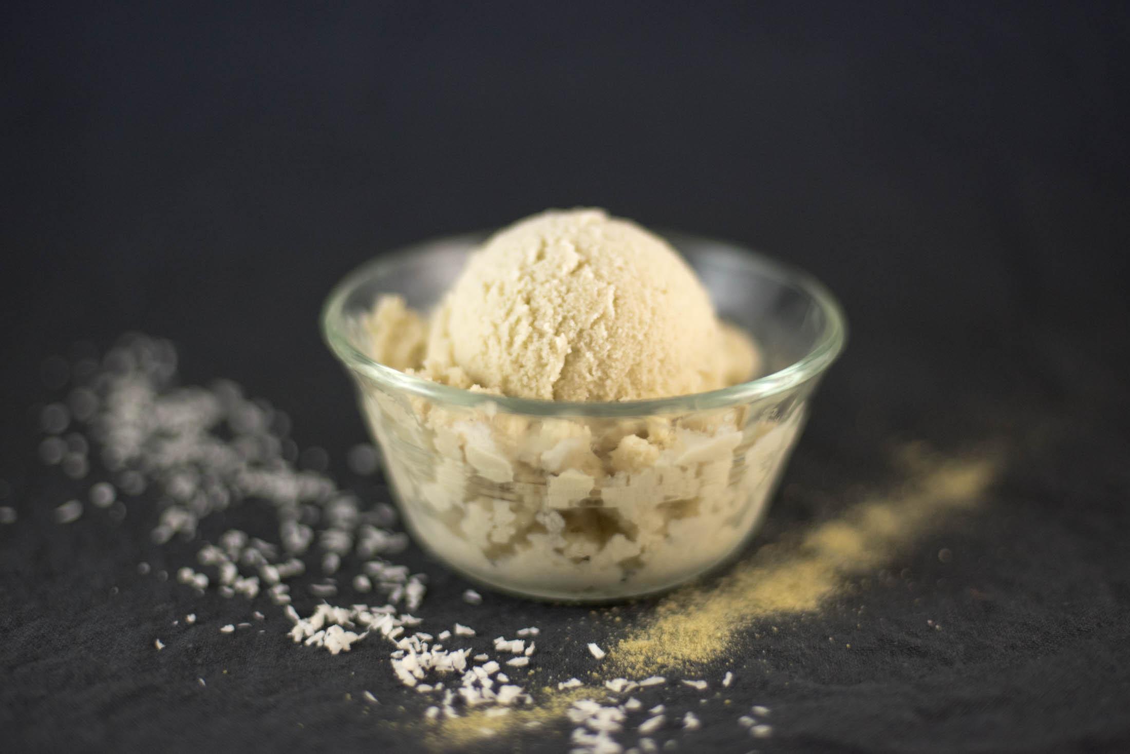 coconut green tea ice cream