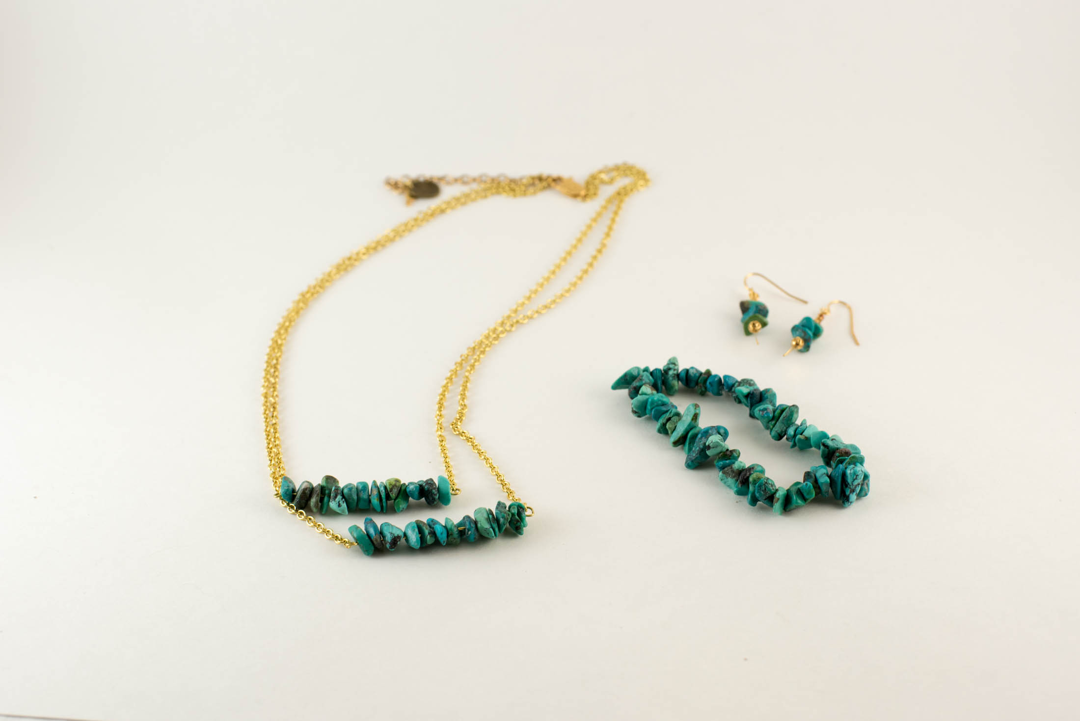 diy turquoise necklace set