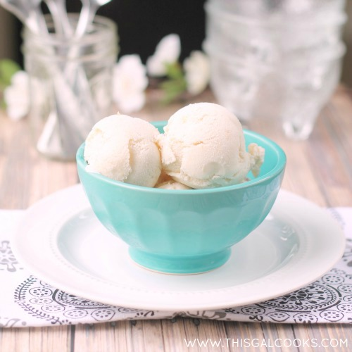 paleo vanilla peach ice cream