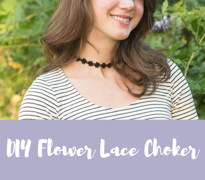 diy flower lace choker