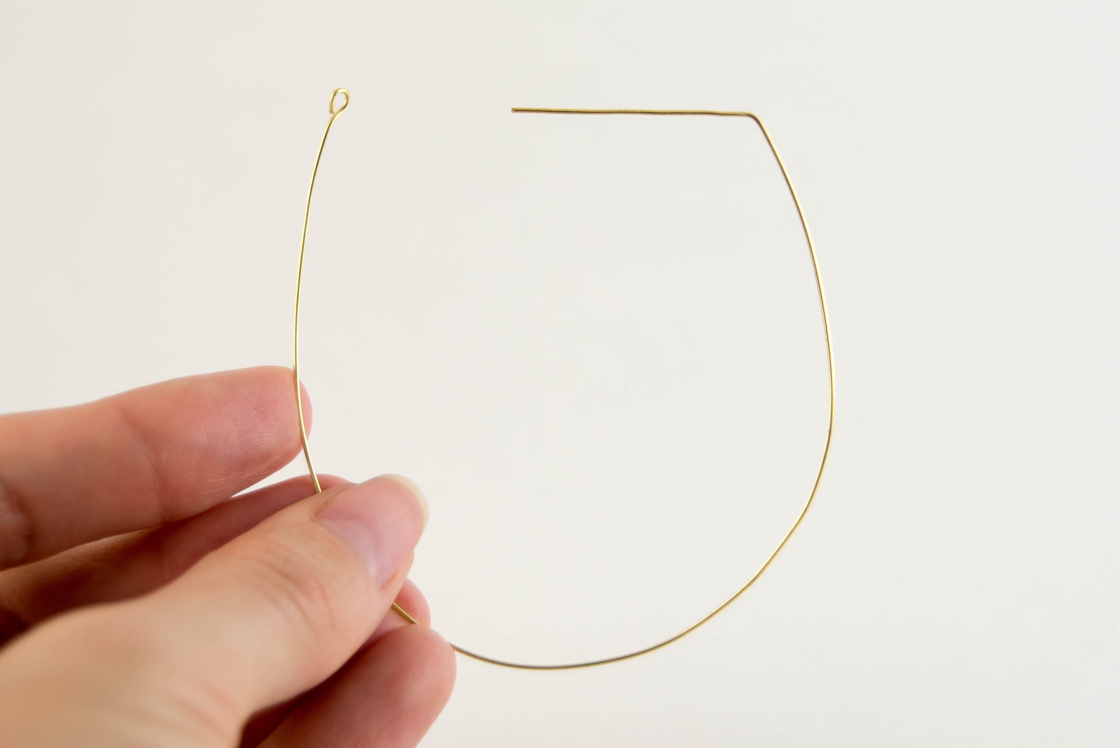 diy threaded earring hoop