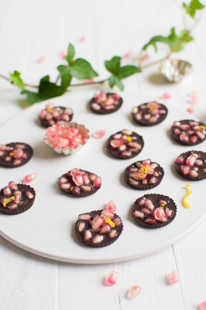 pomegranate chocolate thins