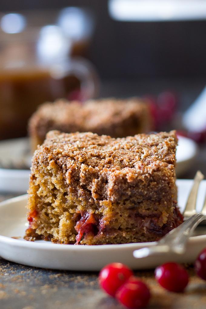Paleo Cranberry Orange Coffee Cake by Paleo Running Momma