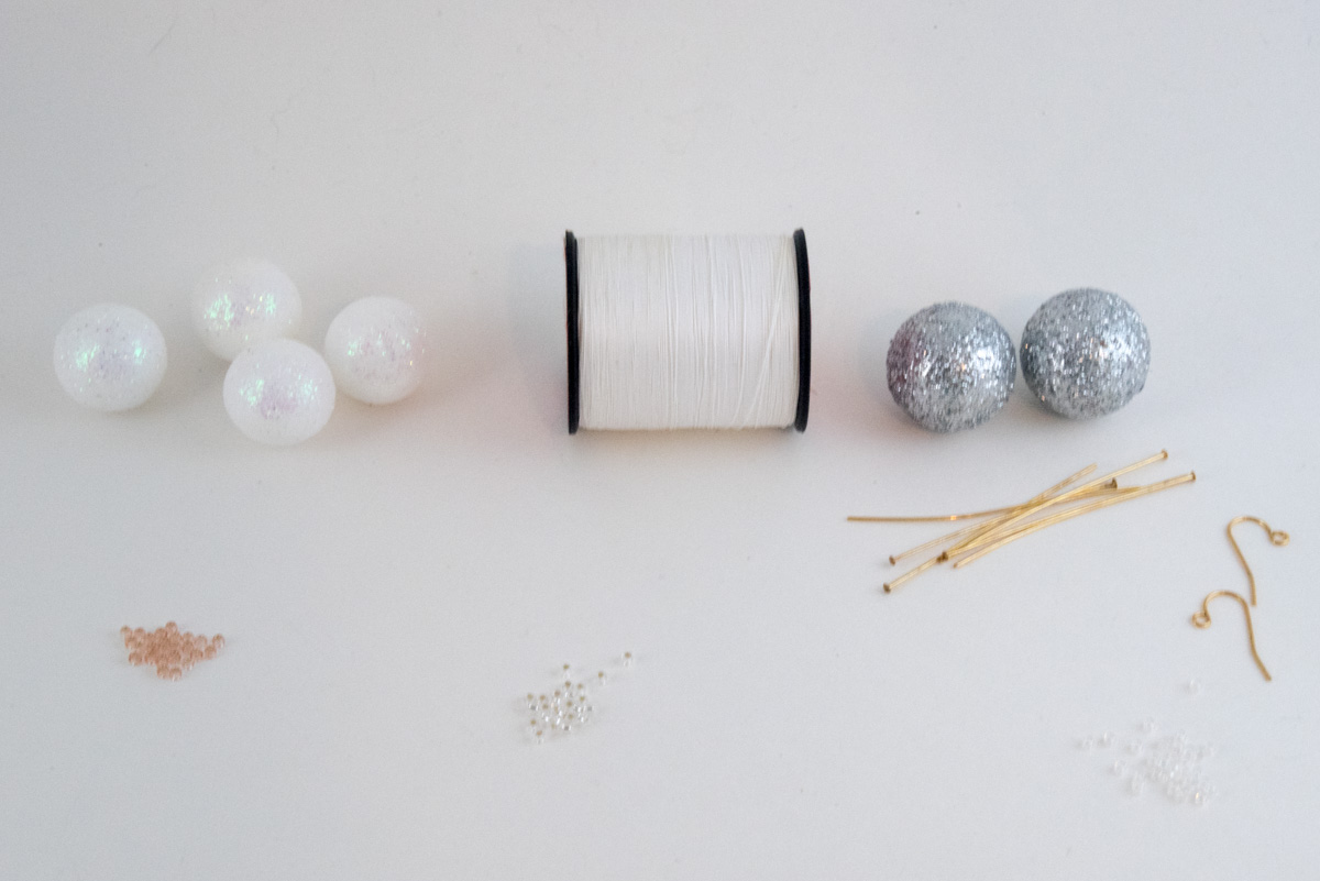 diy bon bon earring materials