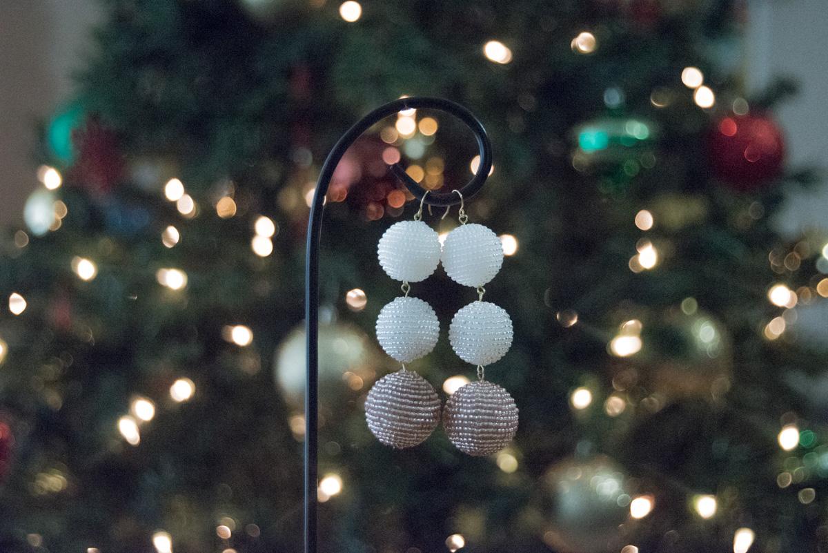 diy beaded ball earrings
