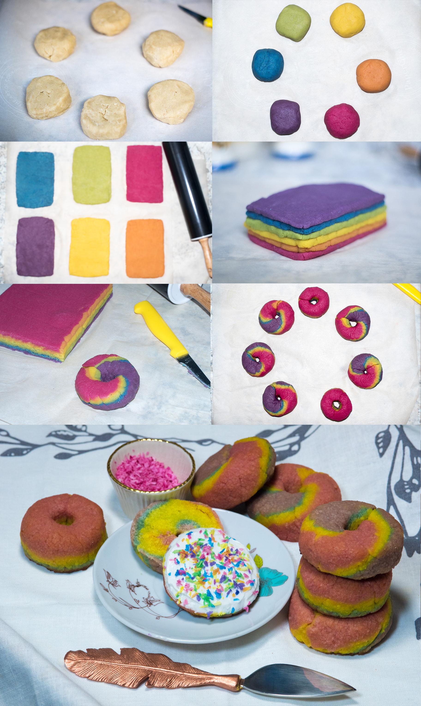 paleo rainbow bagel recipe steps