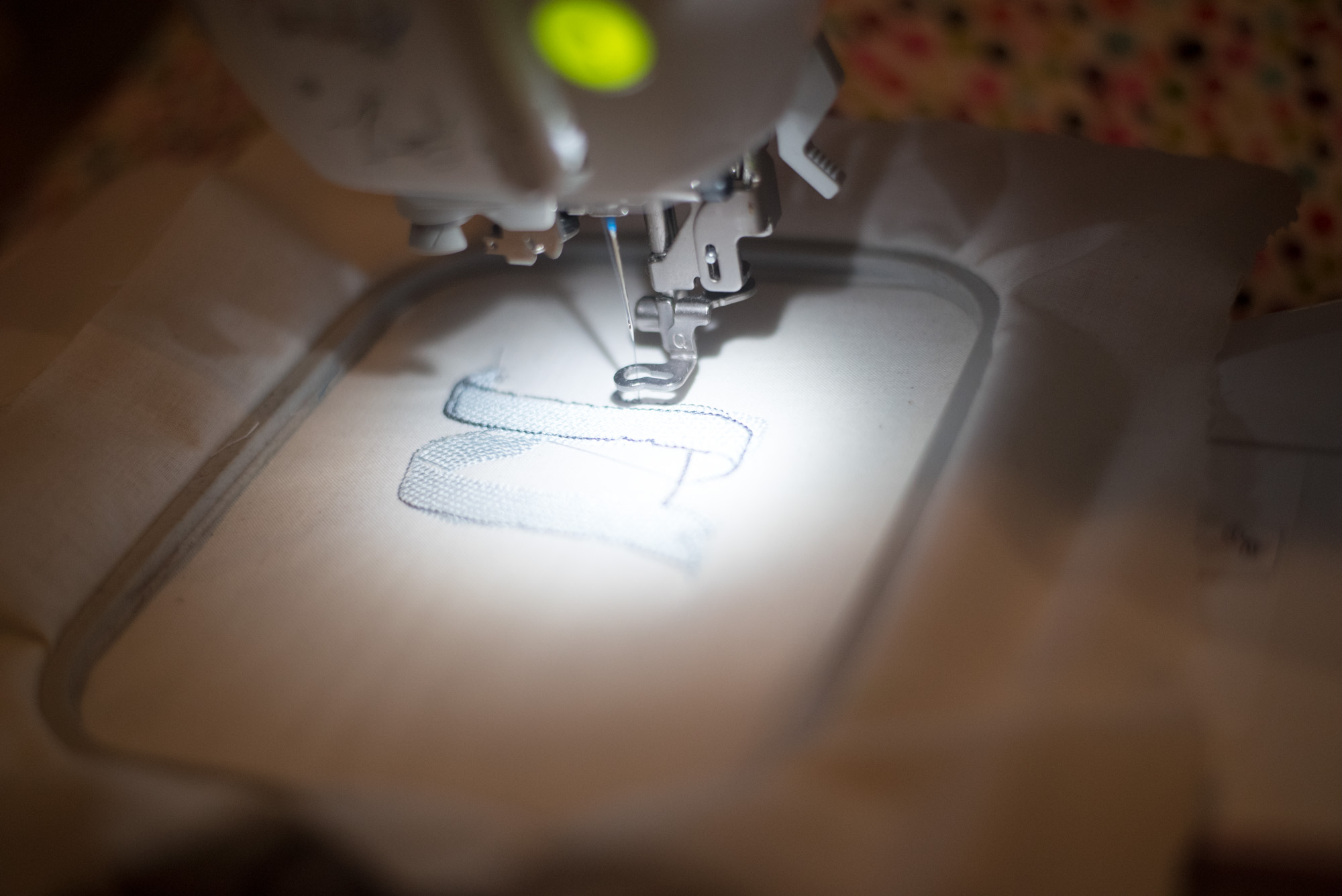 making embroidered jean jacket