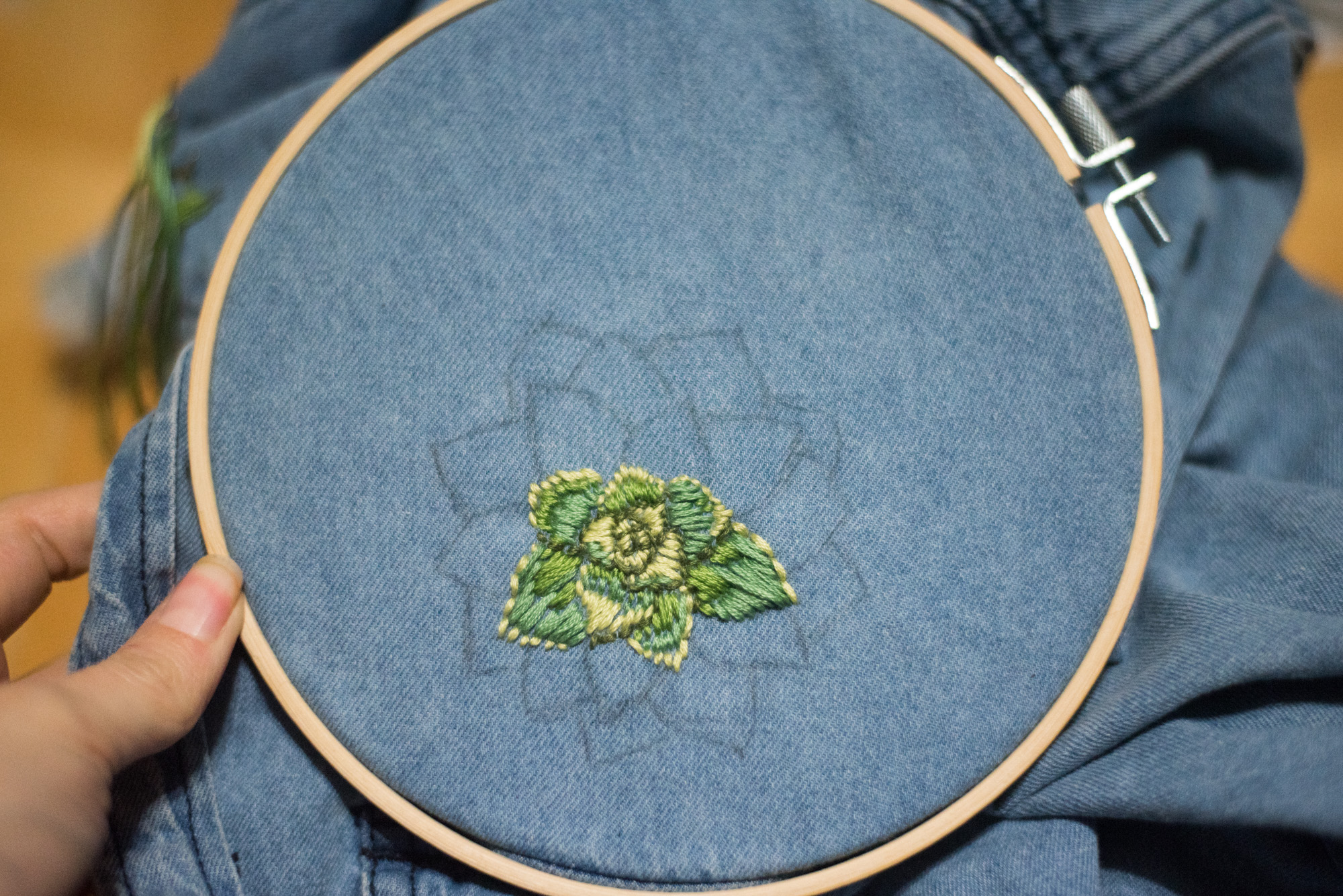 diy cactus embroidery