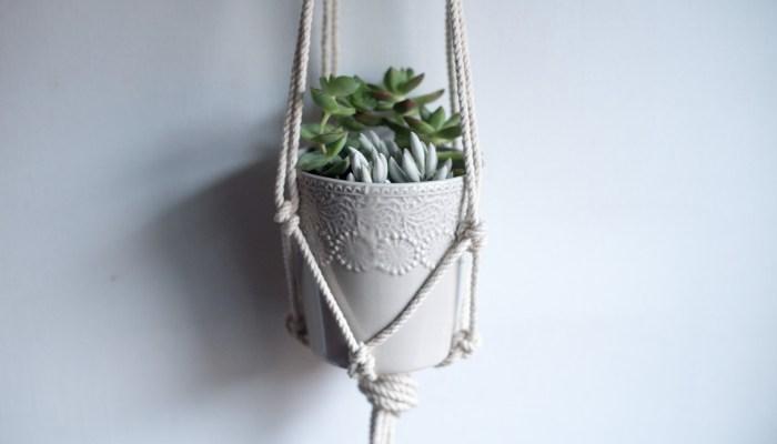DIY Macrame Hanging Planter