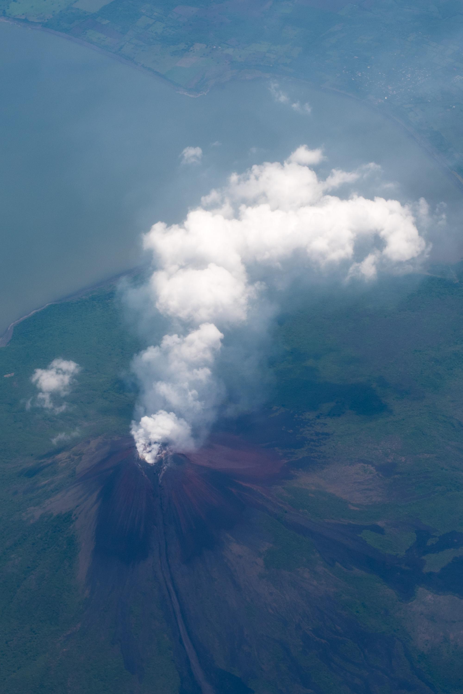 nicaragua volcano flight
