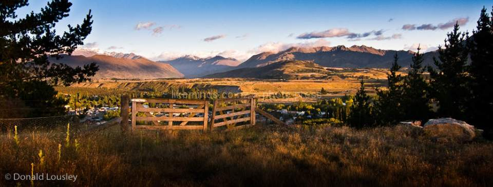 Farm gate Wanaka area by Donald Lousley.
