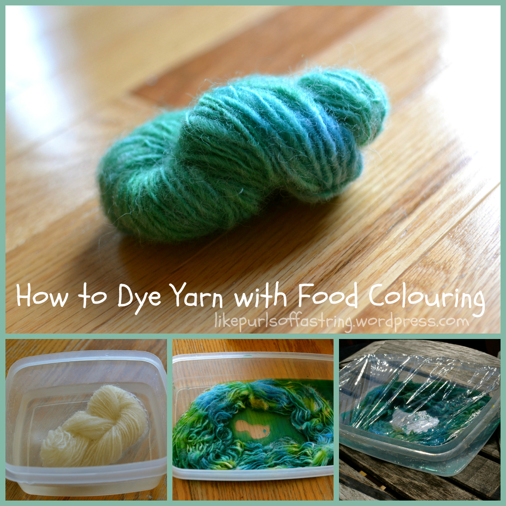 How To Dye Yarn With Food Colouring Stitches Amp Spoonfuls
