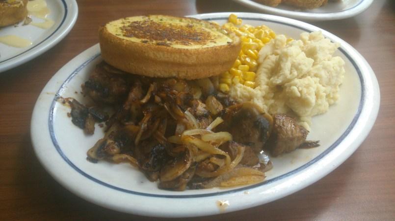 Sirloin Steak Tips Dinner, Php 575.00
