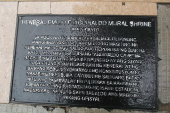 A marker at the square