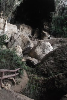 Steps leading to the cave