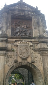 Where Fort Santiago begins: The Crest of the King of Spain