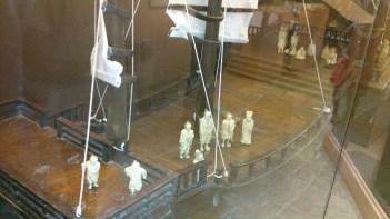 (Detail) Model of a sailing vessel